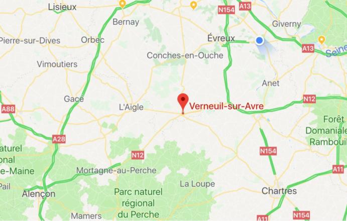 Eure : un cycliste en urgence absolue héliporté au CHU de Rouen après un accident de la route a Verneuil-sur-Avre