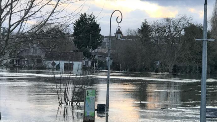 La Seine déborde encore par endroits aussi bien en Normandie qu'en Île-de-France (Photo © infonormandie)