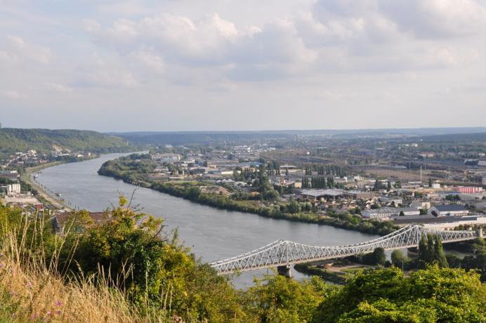 Les boucles de la Seine dans l'agglomération de Rouen (Illustration © infonormandie)