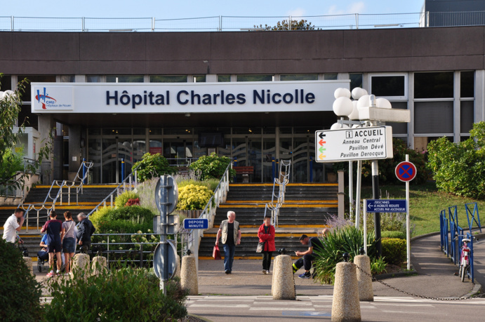 Le blessé a été transporté au CHU de Rouen (Illustration © infonormandie)