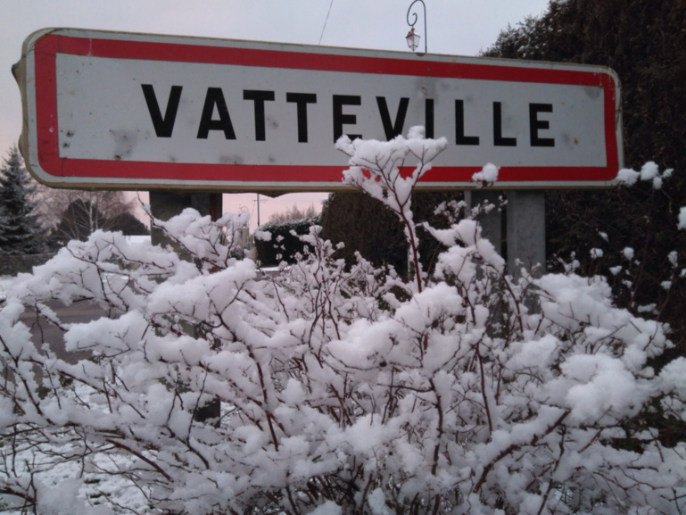 La neige a recouvert l'Eure de son blanc manteau, ce mardi matin (Photo @ C. L. /infonormandie)