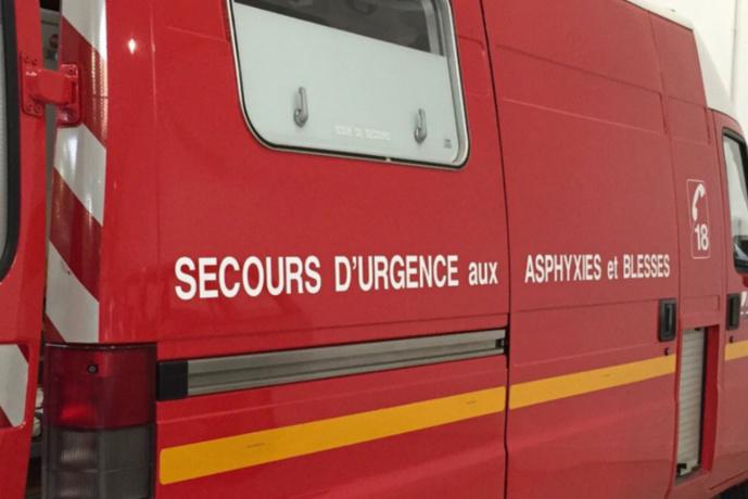 Étrepagny (Eure) : la voiture finit sa course contre un poteau électrique, deux blessés dont un grave