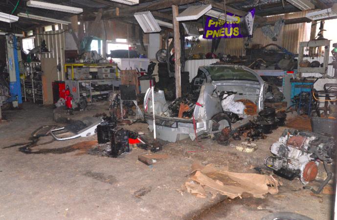 Deux garages de la périphérie d'Evreux ont été perquisitionnés  (Photo © Gendarmerie de Louviers)
