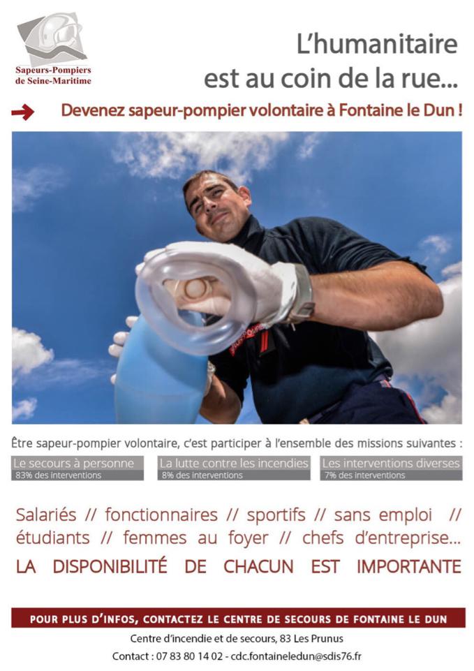 Le centre d'incendie et de secours de Fontaine-le-Dun, en Seine-Maritime, lance une campagne de recrutement