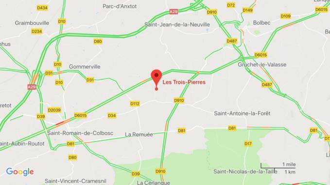 Collision entre deux voitures aux Trois-Pierres, en Seine-Maritime : six personnes conduites à l'hôpital