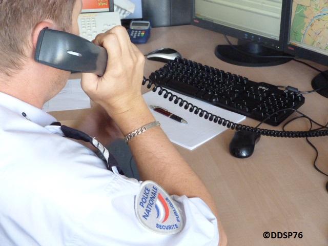 Un témoin a prévenu police-secours et a pu fournir un signalement précis du cambrioleur - Illustration © DDSP76