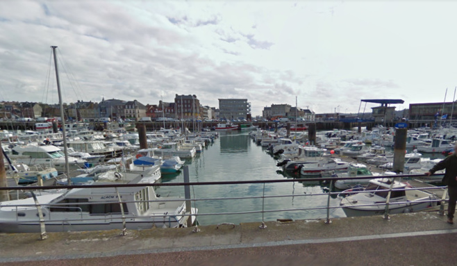 Le port de plaisance de Dieppe - illustration © Google Maps