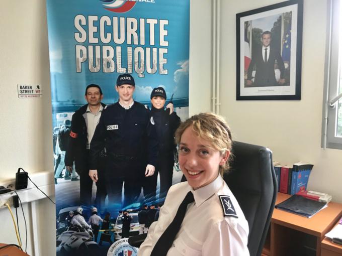 Alexandra Capogna, 25 ans, occupe son premier poste de commissaire central adjoint dans l'Eure - Photo @ infonormandie