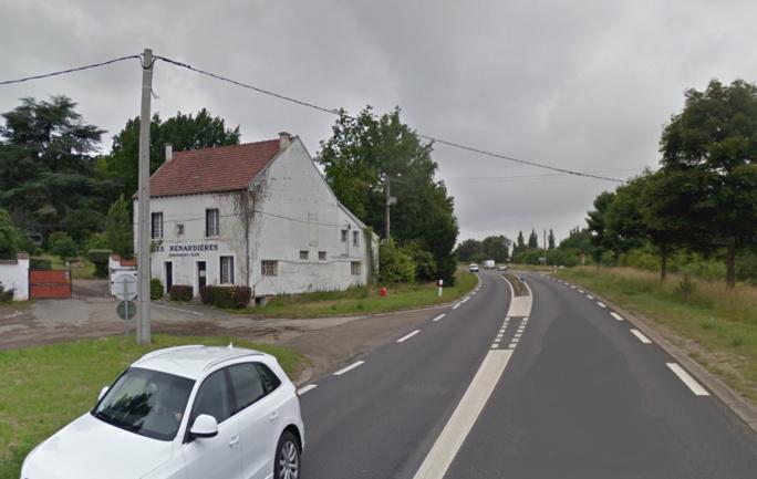 L'accident mortel s'est produit sur la reoute édpartementale 154 (rue de Vernouillet) à proxcimité du camping La Renardière  -Illustration © Google Maps