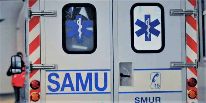Le blessé grave a été médicalisé sur place par le SAMU avant d'être transporté à l'hôpital Jacques-Monod - Illustration