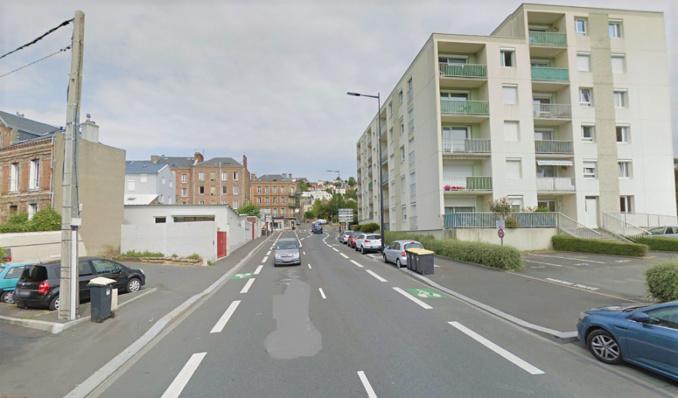 Quartier de Graville, au Havre. Connu pour être un lieu de deal, l'entrée du parking, rue Armand Bardès, a été placé sous surveillance par la brigade anti-criminalité - Illustration © Google Maps