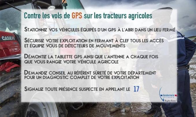Vols de GPS : la mise en garde de la gendarmerie - Illustration @ gendarmerie/Facebook