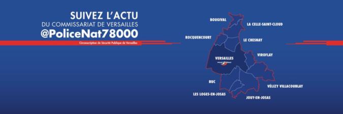Yvelines : le commissariat de police de Versailles arrive sur Twitter