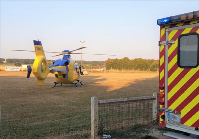 Seine-Maritime : un blessé grave dans une sortie de route, à Mesnières-en-Bray