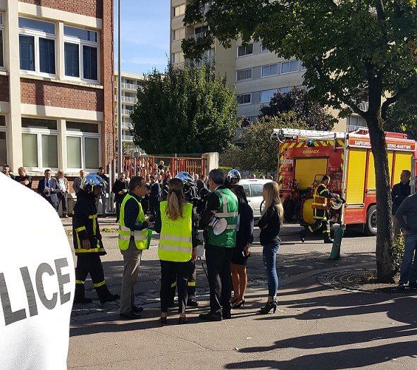 Trois-cents personnes ont été évacuées pendant une heure - Photo @ DDSP76 / Twitter