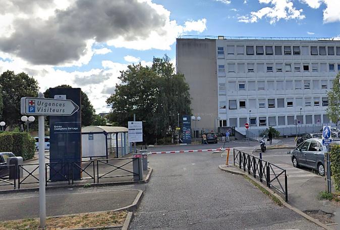 Le drame s'est produit sur le parking de l'hôpital - Illustration © Google Maps