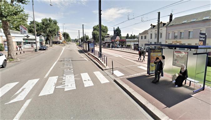 L'accident s'est produit à hauteur de la station François Truffaut, avenue Jean-Jaurès à Petit-Quevilly - Illustration © Google Maps