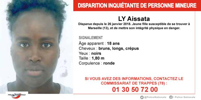 Trappes (Yvelines) : la police recherche cette jeune femme disparue depuis janvier dernier