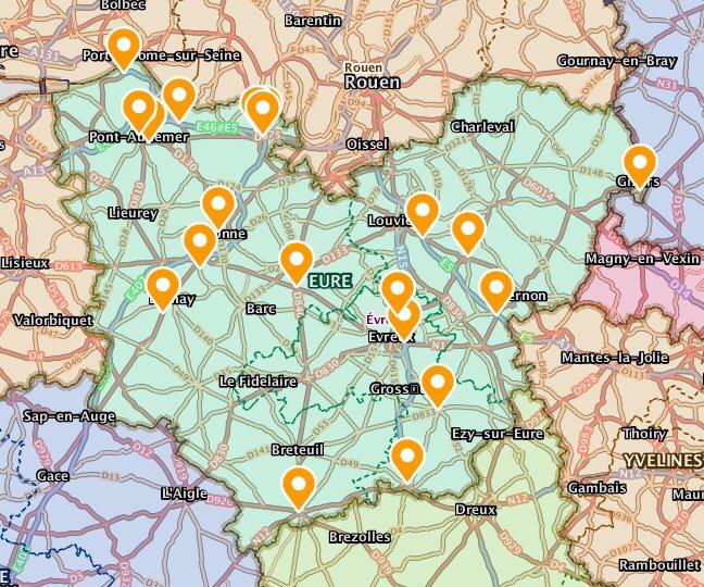 Mouvement des Gilets jaunes : Où sont les barrages dans l'Eure ?
