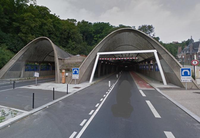 Le tunnel Jenner est fermé depuis le 2 janvier 2018 - illustration © Google Maps