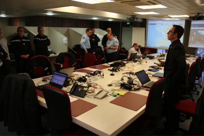 Le centre opérationnel départemental a été activé ce matin à la préfecture, sa mission est de suivre l'évolution de la situation dans le département - Photo @prefecture de l'Eure/Twitter