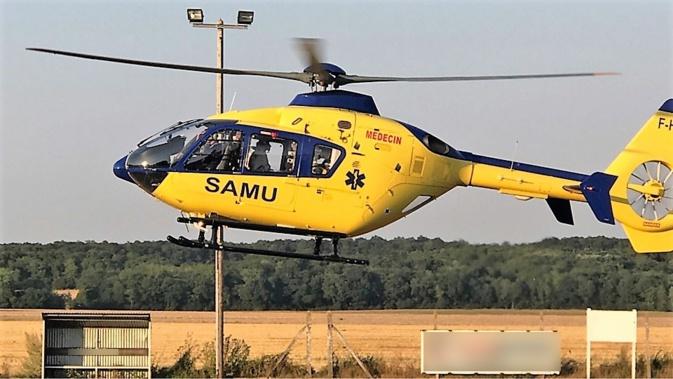 La jeune femme a été héliportée médicalisée vers l'hôpital Charles-Nicolle - Illustration © infonormandie