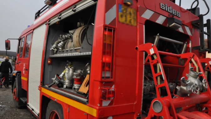 Le feu a été rapidement circonscrit par les pompiers - Illustration © infonormandie