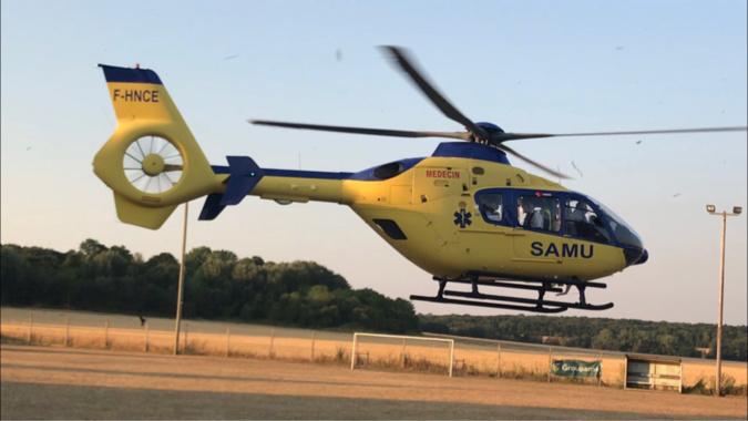 La gravité des blessures du jeune homme a nécessité l'intervention de l'hélicoptère du SAMU76 - Illustration © infonormandie