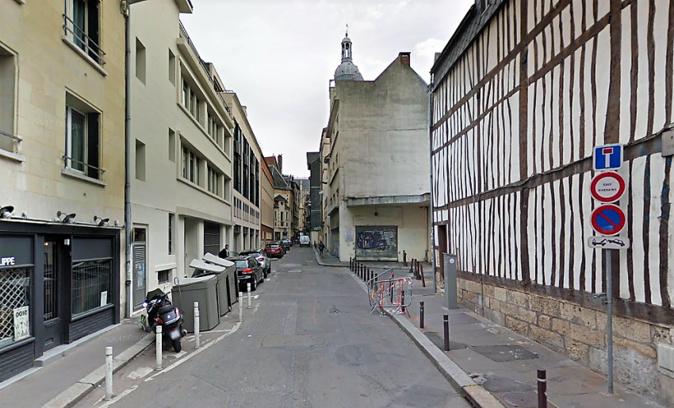 L'agression s'est produite rue des Vergetiers, une voie peu fréquentée qui débouche sur la rue aux Ours - Illustration © Google Maps