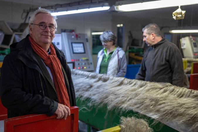 Pascal Prévost : « Nous avons la chance d'avoir une très bonne communication sur le lin qui correspond aux aspirations écologiques du moment. Le marché est en pleine expansion. Notre production est passée de 3 800 ha en 2012 à 7 000 ha aujourd'hui » - Photo © C.D.27