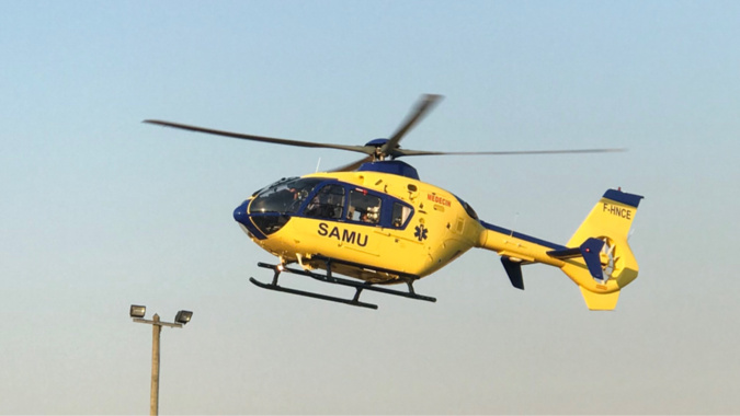 L'adolescente a été transportée en réanimation à Rouen par l'hélicoptère Viking du SAMU76 - Illustration © infonormandie