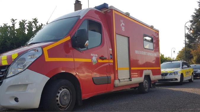 Les sapeurs-pompiers ont prodigué sur place les premiers soins aux deux blessés - Illustration @ infonormandie