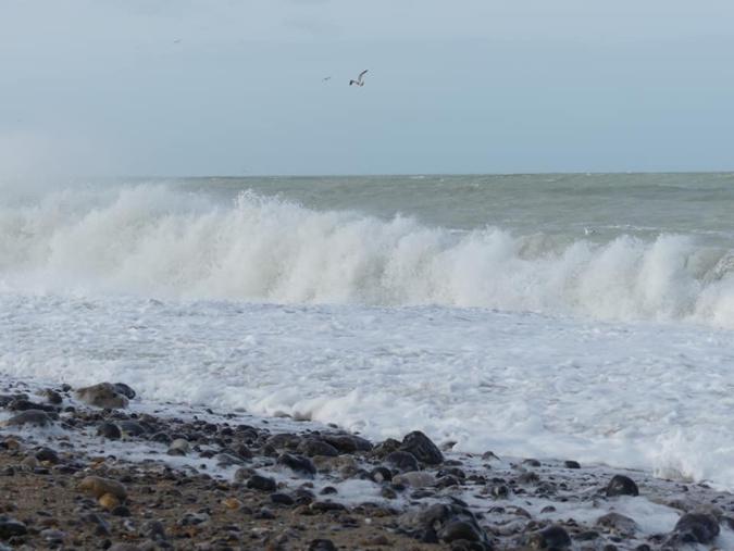 La plage de Dieppe - Illustration @ C. L. Pour infonormandie