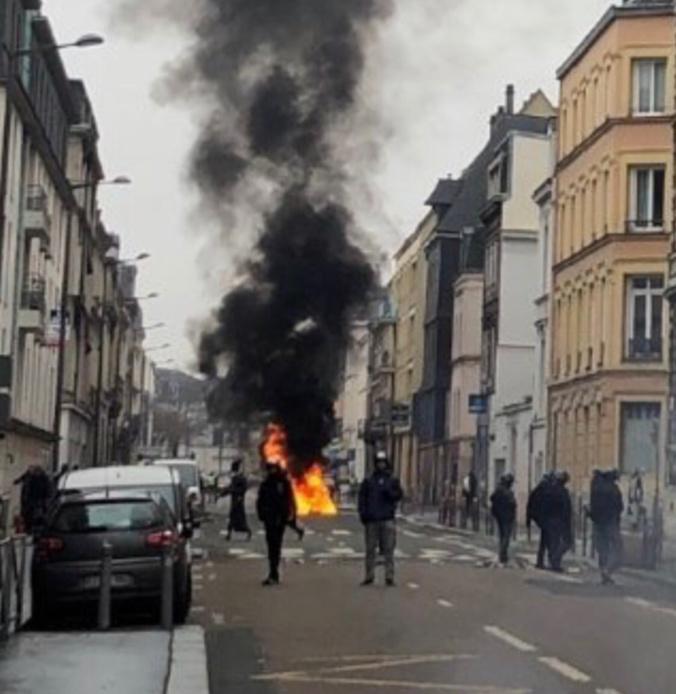 Gilets jaunes : les samedis se suivent et se ressemblent à Rouen - Illustration © DDSP/Twitter