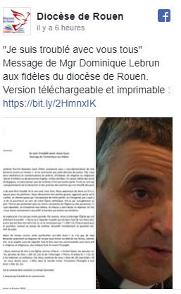 Pédophilie : «Il y a de la pourriture dans notre église catholique», réagit l'archevêque de Rouen