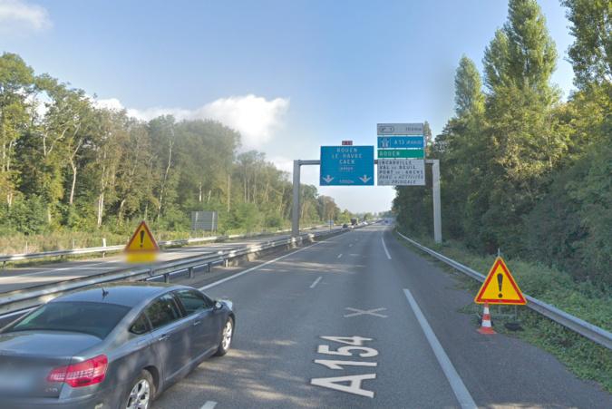 Réfection d'un pont sur l'A154 entre Evreux et Incarville :  travaux de nuit et déviations ponctuelles