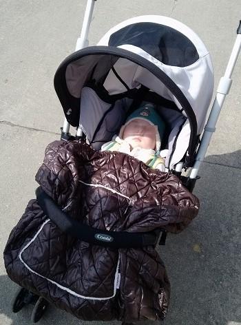 Le bébé de quatre mois n'a pas été blessé lorsque la poussette s'est renversée - illustration © Pixabay