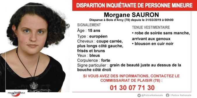 Disparition inquiétante à Bois d'Arcy : la police des Yvelines recherche Morgane, 15 ans