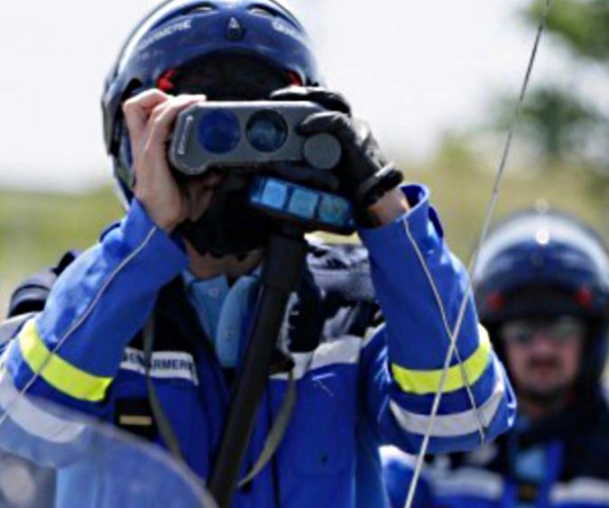 Les motards de l'EDSR de Seine-Maritime étaient en embuscade sur la RN 27 - Illustration