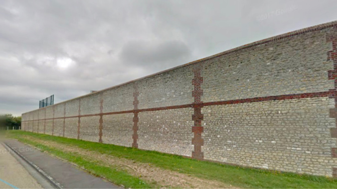 Les deux jeunes ont été interpellés près du mur d'enceinte de la prison, rue Geirges-Duhamel - illustration