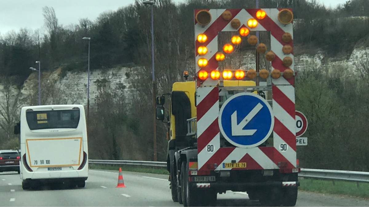 Accidents : circulation perturbée sur l'A13 vers Rouen entre Orgeval et Heudebouville