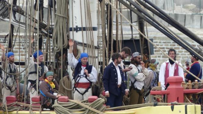 Lors de son escale à Dieppe en mai dernier, L'Hermione a été prise d'assaut par les visiteurs - Photo © I.C.
