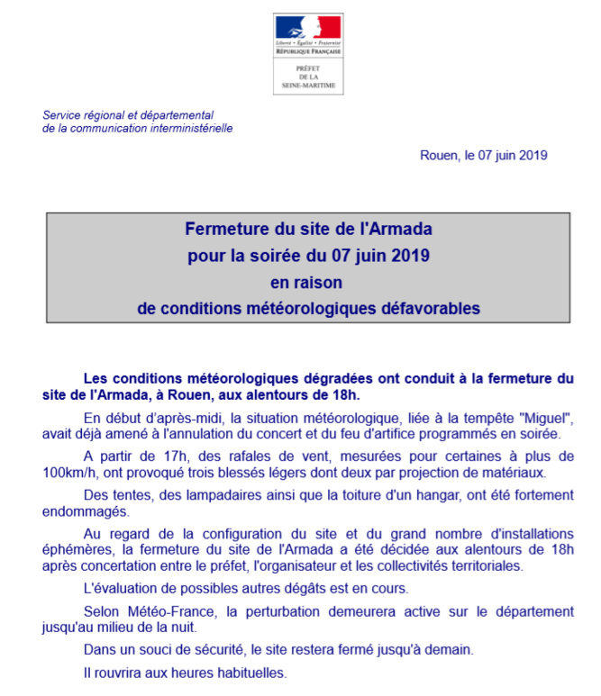 Armada évacuée, spectacles annulés et trains perturbés en Seine-Maritime à cause de la tempête Miguel