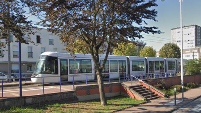 L'accident est survenu à hauteur de la station Ernest-Renan a Saint-Étienne-du-Rouvray - illustration
