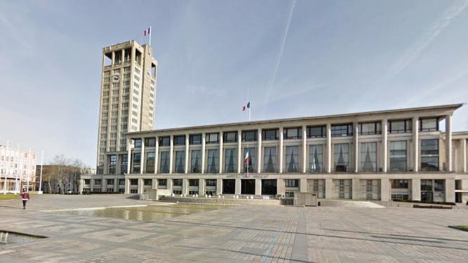 Place de l'Hôtel de Ville du Havre - illustration