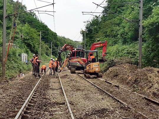 Les agents de la SNCF sont à pied d'œuvre depuis mardi matin - Photo @ SNCF/Twitter