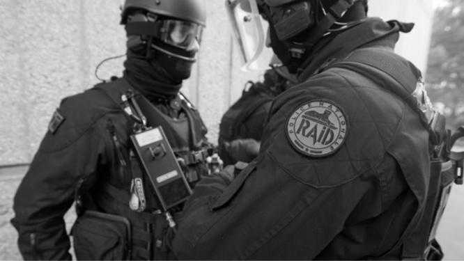 Le RAID, l'unité d'élite de la police nationale, a prêté son concours à cette interpellation jugée à risque - Illustration ® DGPN