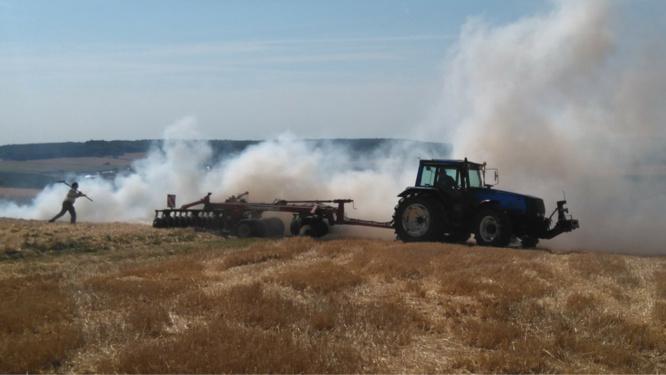 Le feu s'est déclaré sur le tracteur - Illustration © infonormandie