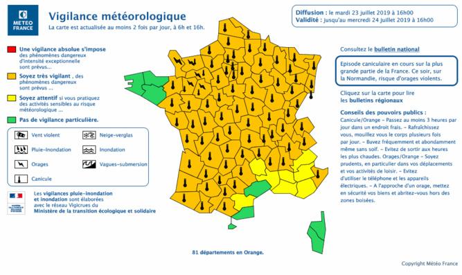 Canicule dans l'Eure et la Seine-Maritime : le mercure montera jusqu'à 40°C jeudi