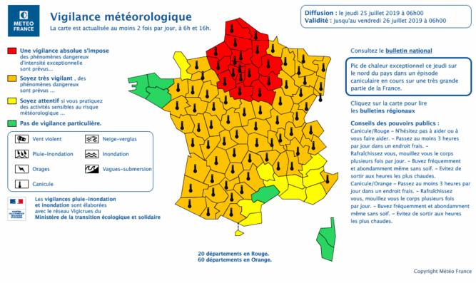 La Seine-Maritime et l'Eure en alerte rouge «canicule» pour 24 heures